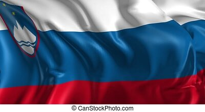 Flag of Slovenia - Beautiful 3d animation of Slovenia flag...
