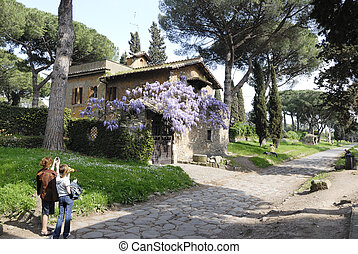 Antic road in Rome - Via Appia Antica - antic road in Rome...