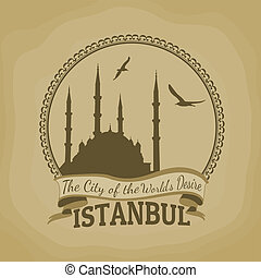 Istanbul ( The City of the Worlds Desire) retro poster -...