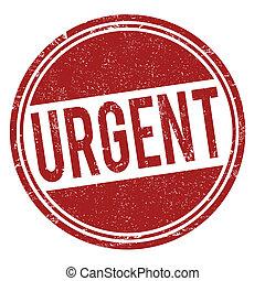 Urgent stamp - Urgent grunge rubber stamp on white, vector...