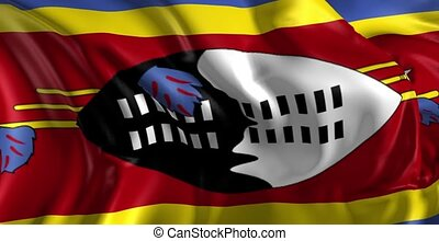 Flag of Swaziland - Beautiful 3d animation of Swaziland flag...