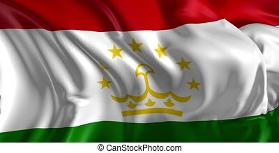 Flag of Tajikistan - Beautiful 3d animation of Tajikistan...