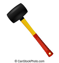 Rubber Mallet isolated on white background