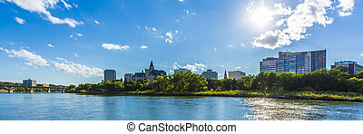 City of Saskatooon - The city skyline of Saskatoon,...
