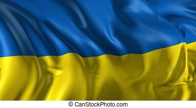 Flag of Ukraine - Beautiful 3d animation of Uruguay flag in...