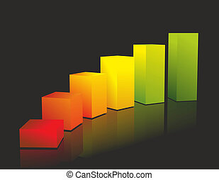 chart - abstract illustration of a chart with elements in...