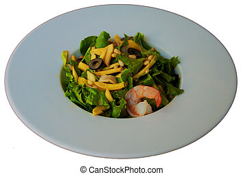salad with prawn - salad, vegetables, cool snacks