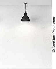 wall and lamps - white wall and ceiling lamps
