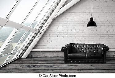 habitación, sofá