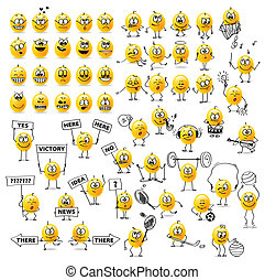 biggest collection of vector Smiley. Emotions. Sports. Music. tablets