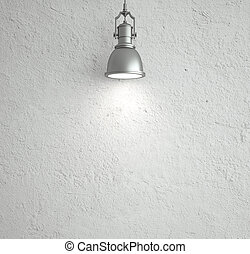 ceiling lamp - white wall with ceiling lamp