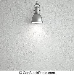 techo, lámpara