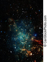 Star field in space and a nebulae. - Star field in space, a...