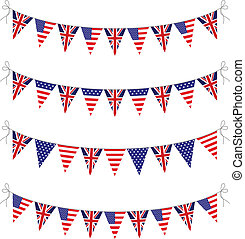 usa and uk bunting