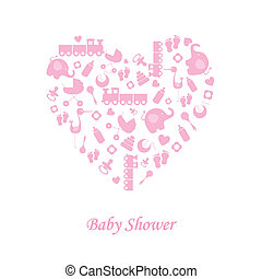 Baby girl birth card