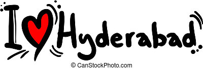Hyderabad love - Creative design of Hyderabad love