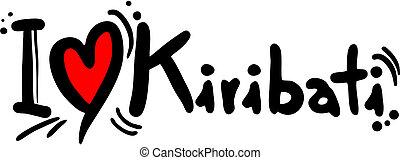 Kiribati love - Creative design of kiribati love