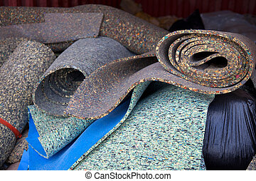 Carpet padding - Load of carpet paddings to be recycled