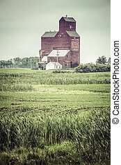 Grain Elevator - The old grain elevator in the small town of...