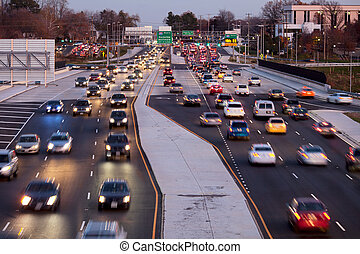 Traffic Fairfax County - Leesburg Pike, Tysons Corner in...