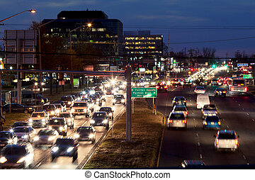 Traffic Tysons Corner - Rush hours traffic in Tysons Corner...