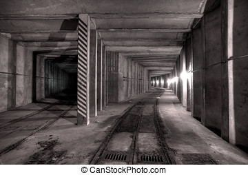 Underground tunnel - Urbex - Abandoned underground tunnel,...