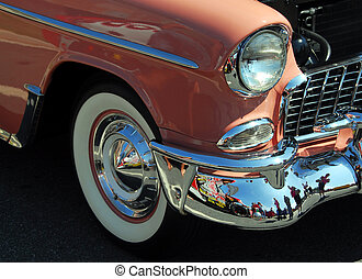 classic car show - classic car photographed at car show in...