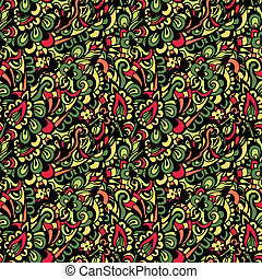 Seamless colorful  paisley vector pattern