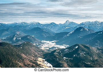 View from the Herzogstand - An image of the view from the...