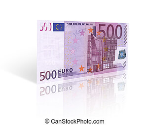 euro banknote - five hundred euro banknote Isolated on white...