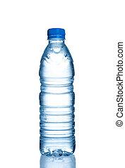 water bottle - Small plastic water bottle on white...