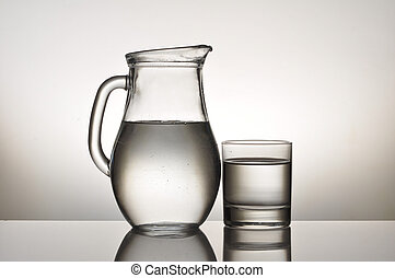 jug and glass - water glass and jug