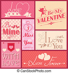 Love label for Valentine's day decoration
