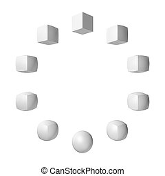 transform - cube-sphere-cube transform