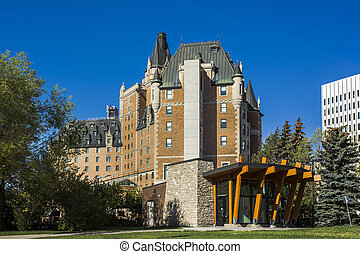 Saskatoon Landmark - The Bessborough Hotel is a historical...