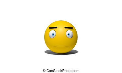emotional smiley front view - 3d emotional yellow smiley.