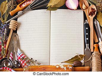 Recipe book.