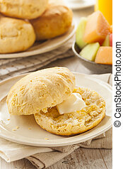 Homemade Hot Buttermilk Biscuits to eat at Breakfast