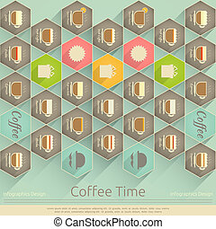 Coffee Time - Retor Cover of Coffee Menu in Infographics...