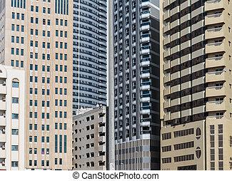 Modern buildings in Sharjah