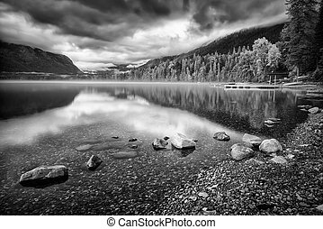 Lake McDonald on a Cloudy Day - Ominous late afternoon...