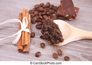 Coffee skin scrub