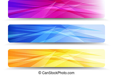 A modern set of vector Web Banners - Abstract Orange Purple...