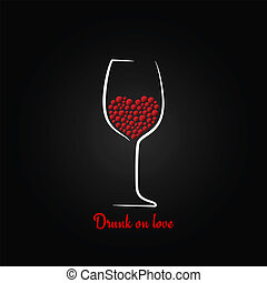 wine glass love concept design background - wine glass love...