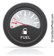 fuel level indicator illustration isolated on white...