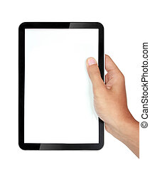 photo of a tablet held by a hands - photo of a tablet held...