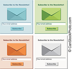 subscribe to the newsletter form - suitable for website...