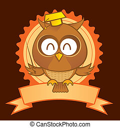 Owl Mascot - an owl as a symbol of education and science