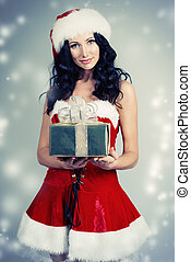wishes - Portrait of a charming smiling young woman in...