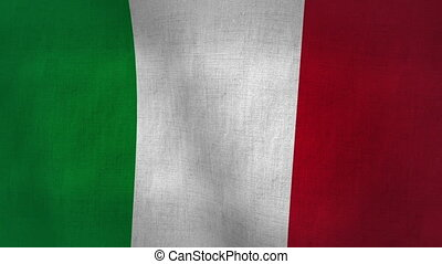 Italy Flag Textured (Loop-able) - Flag Background Textured...